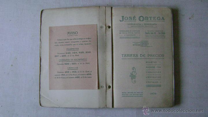 Tauromaquia: CATALOGO DE TOROS .JOSE ORTEGA.CALLE RUZAFA 45.VALENCIA.AÑO 1926.L-666 - Foto 3 - 54104337