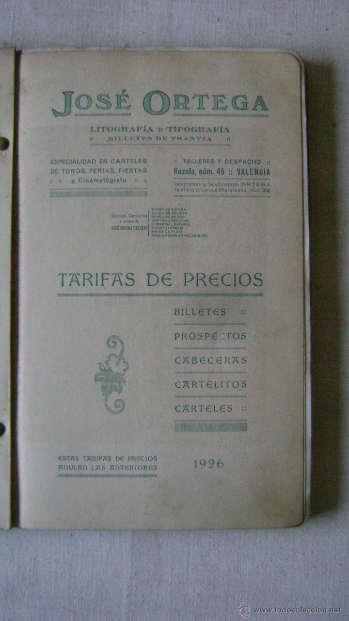 Tauromaquia: CATALOGO DE TOROS .JOSE ORTEGA.CALLE RUZAFA 45.VALENCIA.AÑO 1926.L-666 - Foto 4 - 54104337
