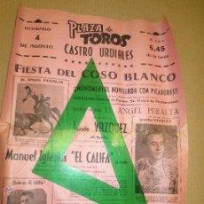 Tauromaquia: PLAZA TOROS CASTRO URDIALES ANGEL PERALTA. JUANITO VAZQUEZ SEVILLA MANUEL IGLESIAS EL CALIFA. LLODIO. Lote 52658616