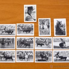 Tauromaquia: CONCHITA CITRÓN - FOTOS TAURINAS - PRODUCTOS BÚFALO - SERIE COMPLETA, 13 CROMOS - TOREROS, TOROS. Lote 52785751