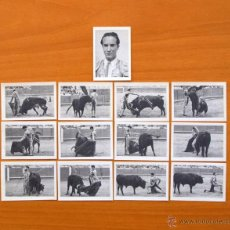 Tauromaquia: LUIS MIGUEL DOMINGIN - FOTOS TAURINAS -PRODUCTOS BÚFALO - SERIE COMPLETA, 13 CROMOS - TOREROS, TOROS. Lote 52785830