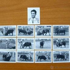 Tauromaquia: MANUEL DOS SANTOS - FOTOS TAURINAS - PRODUCTOS BÚFALO - SERIE COMPLETA, 13 CROMOS - TOREROS, TOROS. Lote 52786157