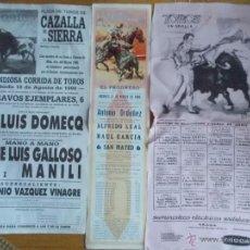 Tauromaquia: 3 CARTELES DE TOROS 1969 1977 1990. Lote 68697242