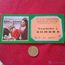 Tauromaquia: ENTRADA TICKET TOROS TAUROMAQUIA CORRIDA FIESTA TORO PLAZA DE LA LINEA CADIZ 1992 IDEAL COLECCION VE. Lote 53181292