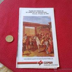 Tauromaquia: GUIA LIBRITO TOROS TAUROMAQUIA CORRIDA FIESTA TORO PLAZA DE LA LINEA CADIZ 1991 IDEAL COLECCION VER . Lote 53181978
