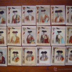 Tauromaquia: TOREROS CELEBRES - SERIE 14 FOTOTIPIAS DE CAJAS DE CERILLAS - COMPLETA 75 CROMOS - MUY BUEN ESTADO. Lote 53195265