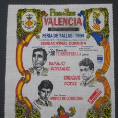 Tauromaquia: PAÑUELO CARTEL TOROS VALENCIA FALLAS 1994. Lote 101956748