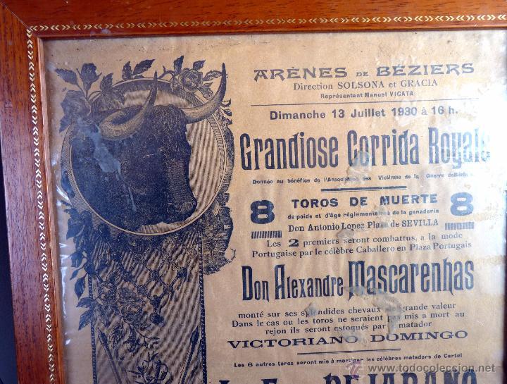 Tauromaquia: EXCEPCIONAL CARTEL DE TOROS DE FRANCIA BEZIERS 1930 - Foto 2 - 53839929