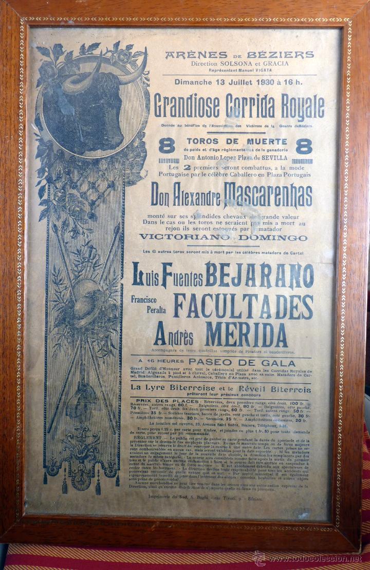 Tauromaquia: EXCEPCIONAL CARTEL DE TOROS DE FRANCIA BEZIERS 1930 - Foto 4 - 53839929