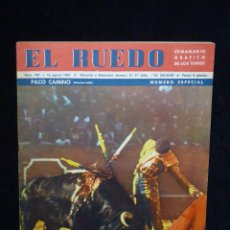 Tauromaquia: REVISTA TAURINA EL RUEDO. NÚMERO ESPECIAL. PACO CAMINO. Nº 947 DE 1962. Lote 54032761
