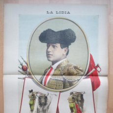 Tauromaquia: CARTEL TOROS, REVISTA TAURINA, Nº 12, LA LIDIA, 2/7/1900, JOAQUIN NAVARRO, QUINITO, RT64. Lote 54062492