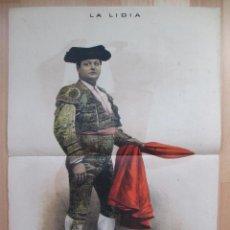 Tauromaquia: CARTEL TOROS, REVISTA TAURINA, Nº 33, LA LIDIA, 15/11/1885, JOSE SANCHEZ DEL CAMPO, D. PEREA, RT106. Lote 56705101