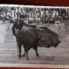 Tauromaquia: FOTO ORIGINAL LUIS MIGUEL DOMINGUIN CORRIDA DE TOROS.1948.FOTO CANO FOTOGRAFO TAURINO. Lote 54077308