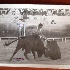 Tauromaquia: FOTO ORIGINAL LUIS MIGUEL DOMINGUIN CORRIDA DE TOROS.1948.FOTO CANO FOTOGRAFO TAURINO. Lote 54077348