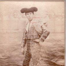 Tauromaquia: ANTIGUA FOTOGRAFIA DE ALBUMINA DEL TORERO ALGABEÑO CHICO - POSIBLE BEAUCHY AUNQUE ESTA CORTADA ABAJO. Lote 54140989