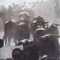 Tauromachie: (FOT-1322)IMPRESIONANTE FOTOGRAFIA SAN FERMINES AÑO 1943,MIRAR REVERSO. Lote 54157415