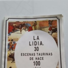 Tauromaquia: LA LIDIA - 7 ESCENAS TAURINAS DE HACE 100 AÑOS - 1882 / 1992 - MADRID LITOGRAFA J. PALACIOS. Lote 54305349