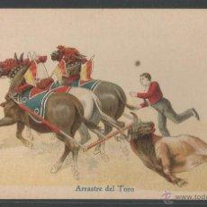 Tauromaquia: ARRASTRE DEL TORO - POSTAL ILUSTRADA - 13986. Lote 54357322