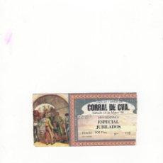 Tauromaquia: ENTRADA DE TOROS, PLAZA DE TOROS CORRAL DE CVA, 1998.. Lote 54643650