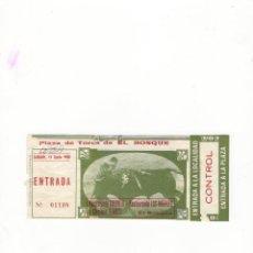 Tauromaquia: ENTRADA DE TOROS, PLAZA DE TOROS DE EL BOSQUE, 1988.. Lote 54648946