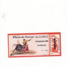 Tauromaquia: ENTRADA DE TOROS, PLAZA DE TOROS DE ALCAÑIZ,1989.. Lote 54650052