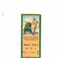 Tauromaquia: ENTRADA DE TOROS, PLAZA DE TOROS DE ZAFRA, 1991.. Lote 54667774