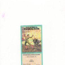 Tauromaquia: ENTRADA DE TOROS, PLAZA DE TOROS DE PIEDRALAVES, 1995.. Lote 54672096