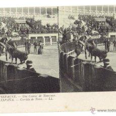 Tauromaquia: PS5911 POSTAL ESTEROSCÓPICA DE CORRIDA DE TOROS EN ESPAÑA. LL. SIN CIRCULAR. PRINC. S. XX. Lote 51559115