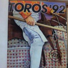 Tauromaquia: REVISTA TOROS 92 AÑO 1988 - 10 NUMEROS EN UN TOMO ENCUADERNADO. Lote 54911364