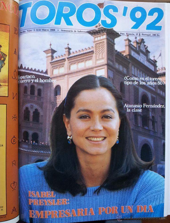 Tauromaquia: REVISTA TOROS 92 AÑO 1988 - 10 NUMEROS EN UN TOMO ENCUADERNADO - Foto 5 - 54911364