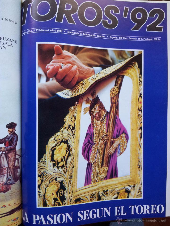 Tauromaquia: REVISTA TOROS 92 AÑO 1988 - 10 NUMEROS EN UN TOMO ENCUADERNADO - Foto 8 - 54911364