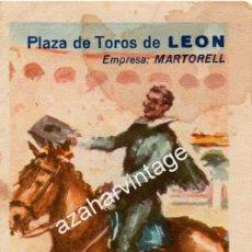 Tauromaquia: LEON,1965, PROGRAMA TOROS FIESTAS DE SAN JUAN, CURRO ROMERO, EL CORDOBES,ETC.LEER MEDIDAS. Lote 54953937