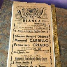 Tauromaquia: CARTEL DE TOROS DOBLE - BLANCA (MURCIA) 1960 Y CARTAGENA. Lote 55159614