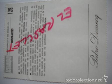 Tauromaquia: TAUROMAQUIA DE BOLSILLO- - DESPLANTES - Nº 129-- PEDRO DOMECQ. - Foto 2 - 55379966