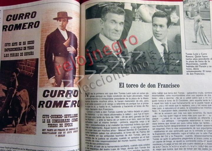 Tauromaquia: CURRO ROMERO UN TORERO DE LEYENDA ABC COMPLETO TAUROMAQUIA BIOGRAFÍA FOTOS CARTELES TOROS LIBRO - Foto 9 - 56016160