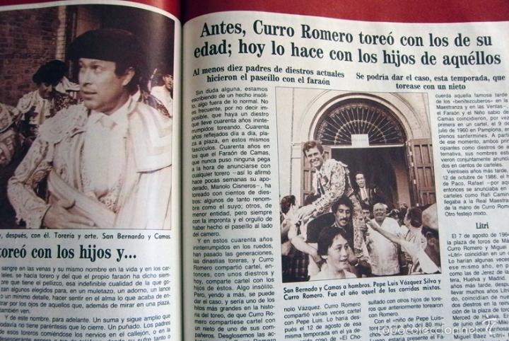 Tauromaquia: CURRO ROMERO UN TORERO DE LEYENDA ABC COMPLETO TAUROMAQUIA BIOGRAFÍA FOTOS CARTELES TOROS LIBRO - Foto 14 - 56016160
