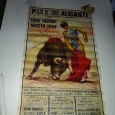 Tauromaquia: ANTIGUO CARTEL GRANDE PLAZA DE TOROS DE ALICANTE FERIA AGOSTO DE 1988 ESPLA. Lote 56018774