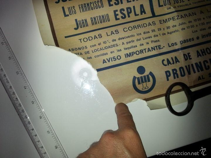 Tauromaquia: ANTIGUO CARTEL GRANDE PLAZA DE TOROS DE ALICANTE FERIA AGOSTO DE 1988 ESPLA - Foto 2 - 56018774