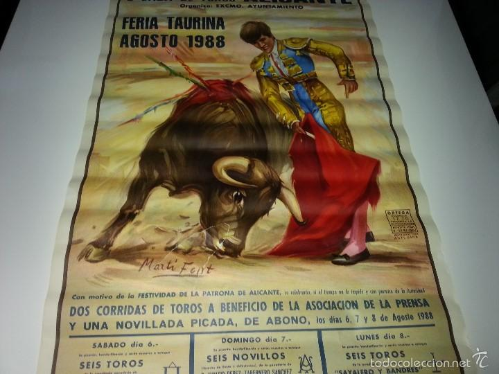 Tauromaquia: ANTIGUO CARTEL GRANDE PLAZA DE TOROS DE ALICANTE FERIA AGOSTO DE 1988 ESPLA - Foto 5 - 56018774
