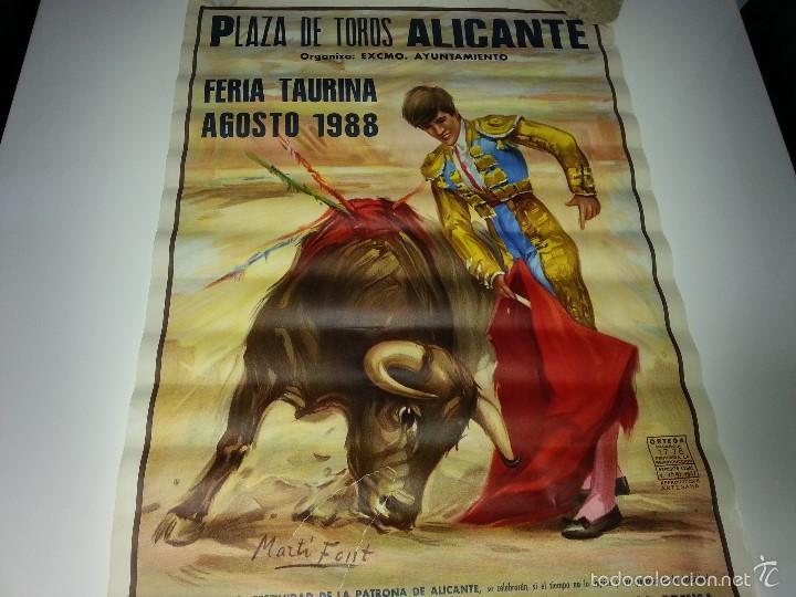Tauromaquia: ANTIGUO CARTEL GRANDE PLAZA DE TOROS DE ALICANTE FERIA AGOSTO DE 1988 ESPLA - Foto 6 - 56018774