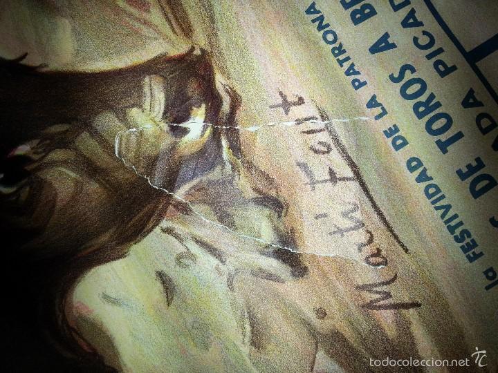 Tauromaquia: ANTIGUO CARTEL GRANDE PLAZA DE TOROS DE ALICANTE FERIA AGOSTO DE 1988 ESPLA - Foto 7 - 56018774