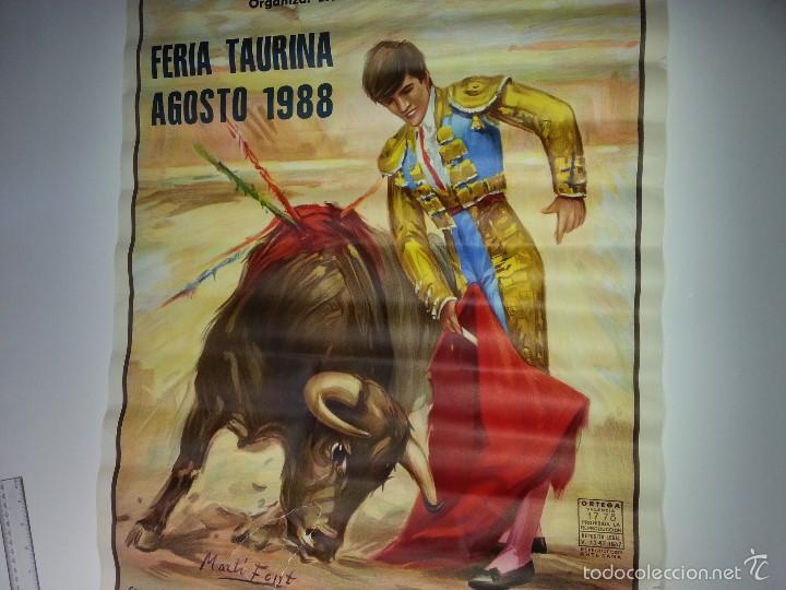 Tauromaquia: ANTIGUO CARTEL GRANDE PLAZA DE TOROS DE ALICANTE FERIA AGOSTO DE 1988 ESPLA - Foto 10 - 56018774