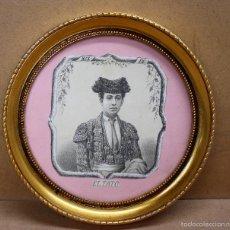 Tauromaquia: LITOGRAFIA ENMARCADA DEL MATADOR ANTONIO SANCHEZ (EL TATO). CIRCA 1890. Lote 56149910