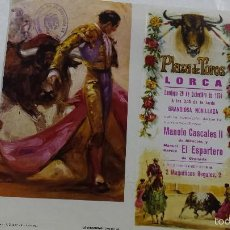 Tauromaquia: PLAZA DE TOROS DE LORCA MURCIA NOVILLADA 1974. Lote 56214029