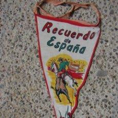 Tauromaquia: BANDERÍN RECUERDO ESPAÑA PICADOR CON TORO. Lote 56516356