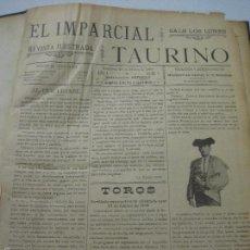 Tauromaquia: EL IMPARCIAL TAURINO -44 PRIMERAS REVISTAS- BARCELONA AÑO 1898 - VER FOTOS - MIDE 25X36CM-(V-5460) . Lote 56595975