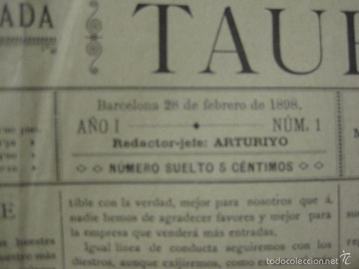 Tauromaquia: EL IMPARCIAL TAURINO -44 PRIMERAS REVISTAS- BARCELONA AÑO 1898 - VER FOTOS - MIDE 25X36CM-(V-5460) - Foto 4 - 56595975