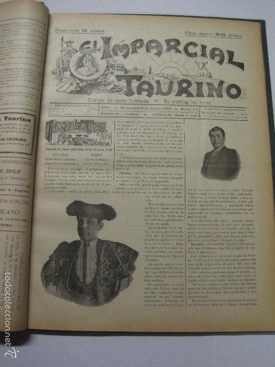 Tauromaquia: EL IMPARCIAL TAURINO -44 PRIMERAS REVISTAS- BARCELONA AÑO 1898 - VER FOTOS - MIDE 25X36CM-(V-5460) - Foto 14 - 56595975