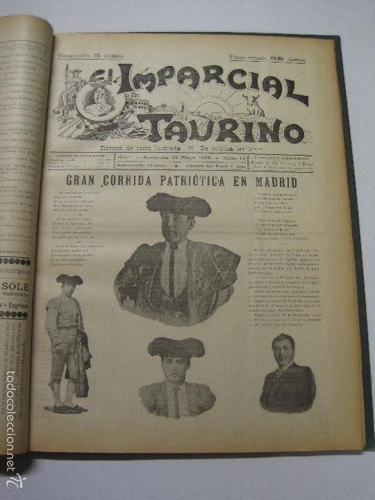 Tauromaquia: EL IMPARCIAL TAURINO -44 PRIMERAS REVISTAS- BARCELONA AÑO 1898 - VER FOTOS - MIDE 25X36CM-(V-5460) - Foto 15 - 56595975