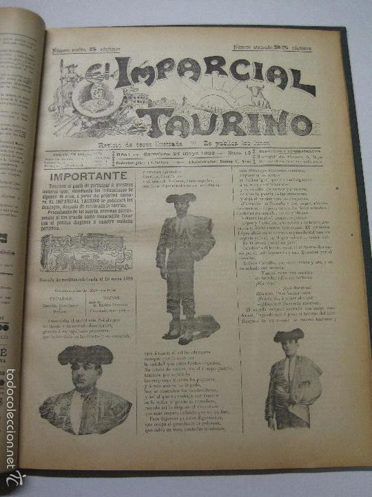 Tauromaquia: EL IMPARCIAL TAURINO -44 PRIMERAS REVISTAS- BARCELONA AÑO 1898 - VER FOTOS - MIDE 25X36CM-(V-5460) - Foto 16 - 56595975